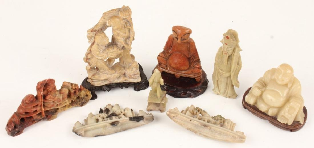 CARVED SOFTSONE FIGURAL PIECES