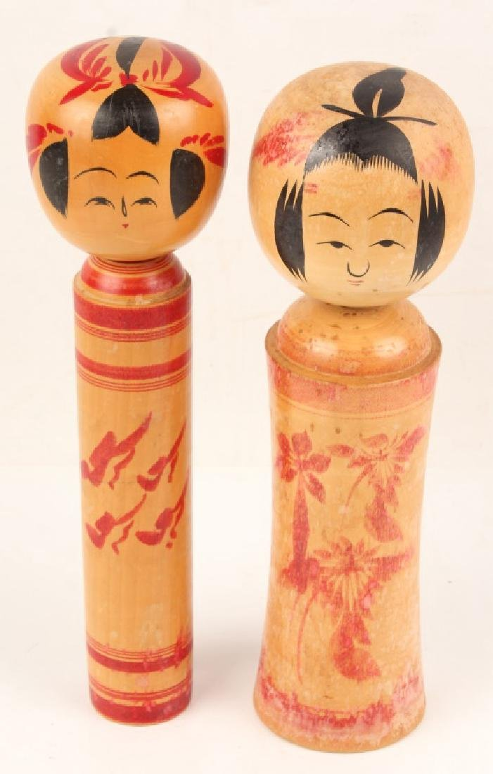 PAIR OF NARUKO KOKESHI DOLLS