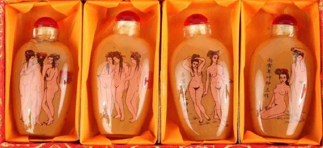 CHINESE REVERSE PAINTED SNUFF BOTTLES - 2