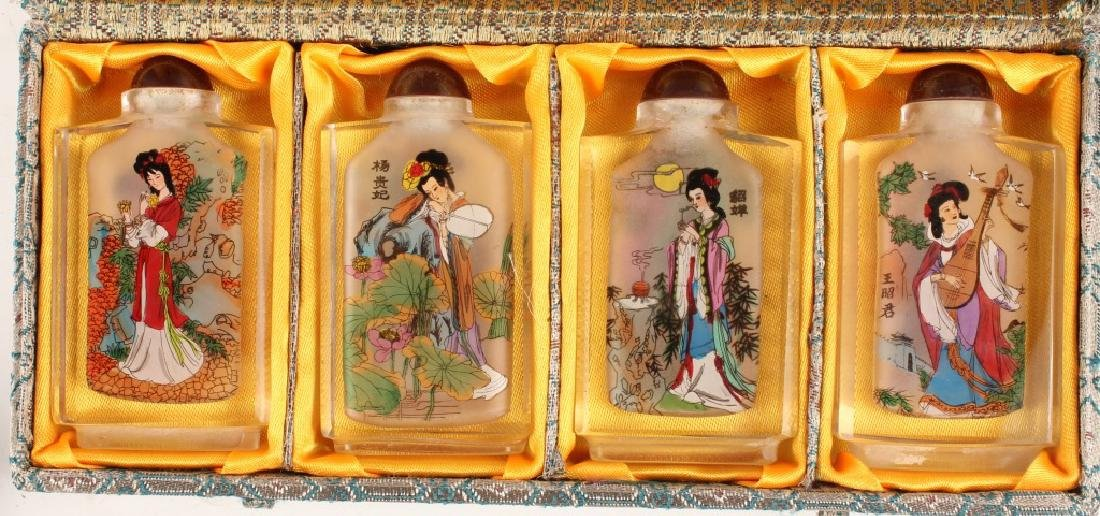 CHINESE REVERSE PAINTED SNUFF BOTTLES - 4