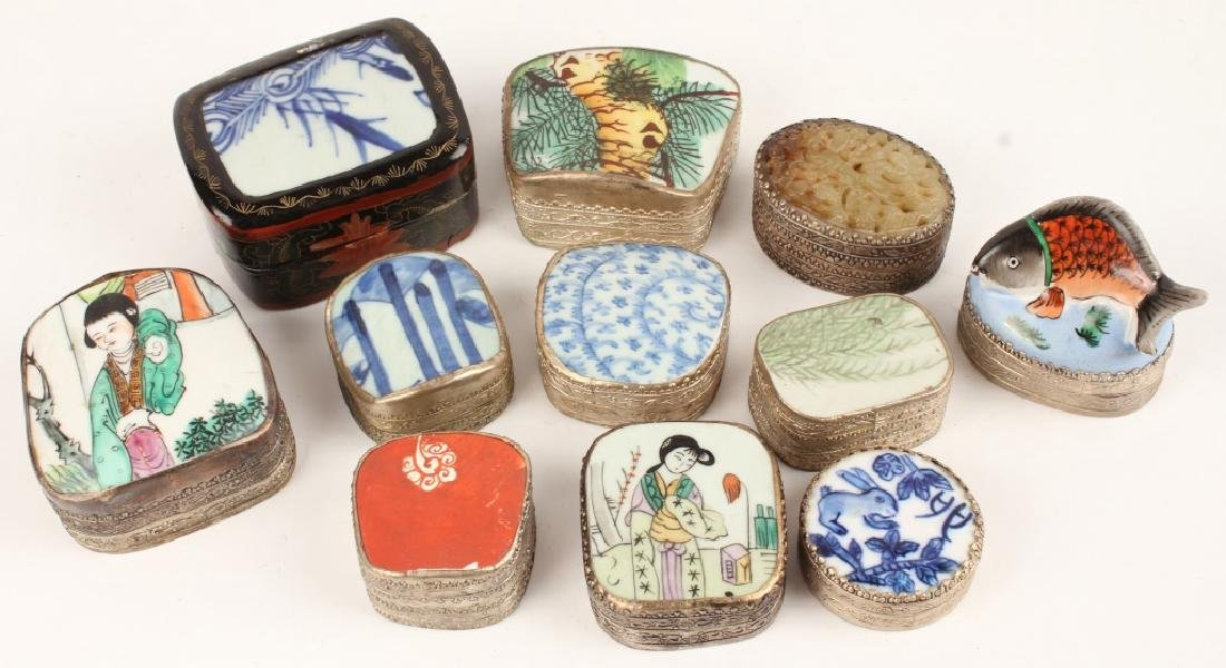 CHINESE PORCELAIN SHARD BOXES