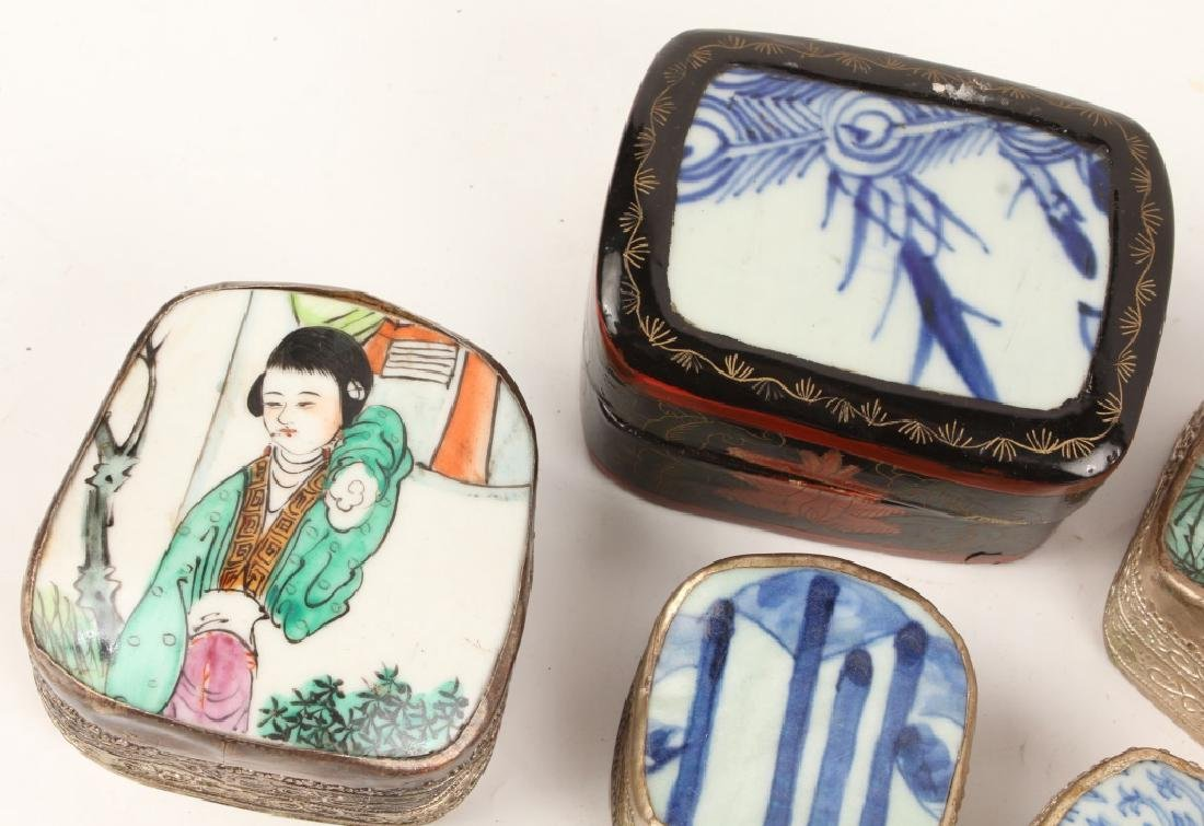 CHINESE PORCELAIN SHARD BOXES - 2