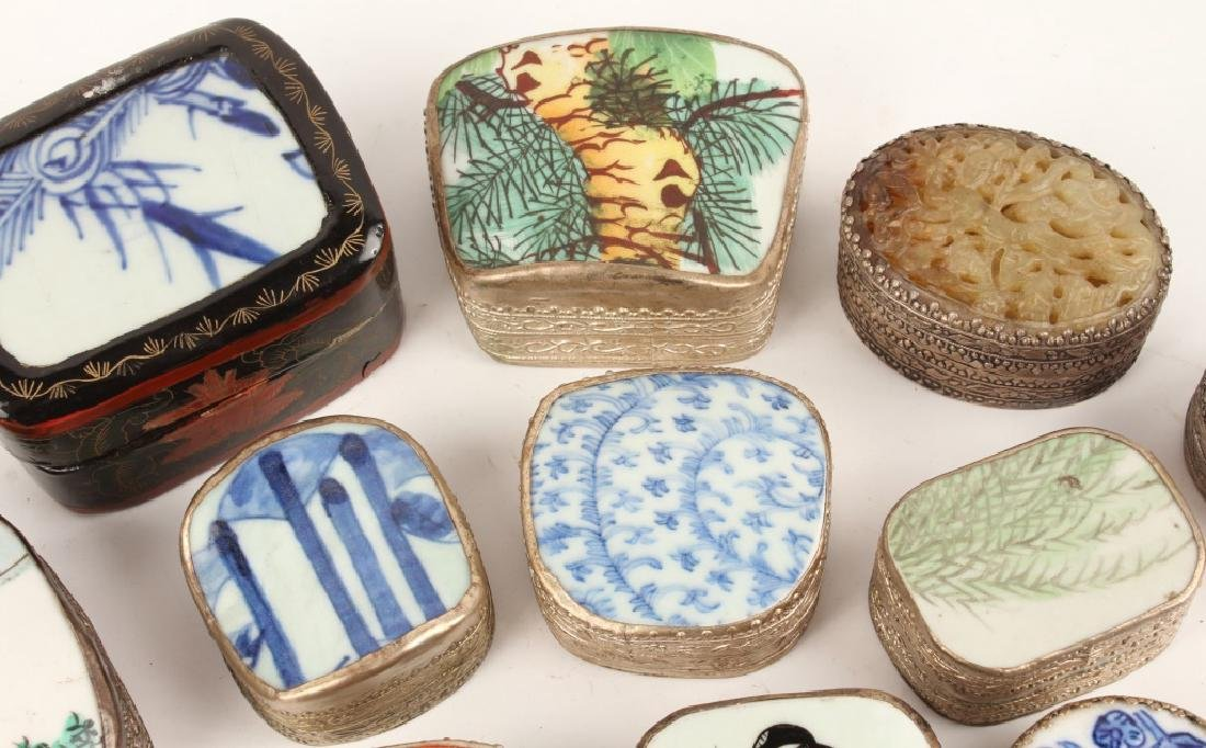 CHINESE PORCELAIN SHARD BOXES - 3