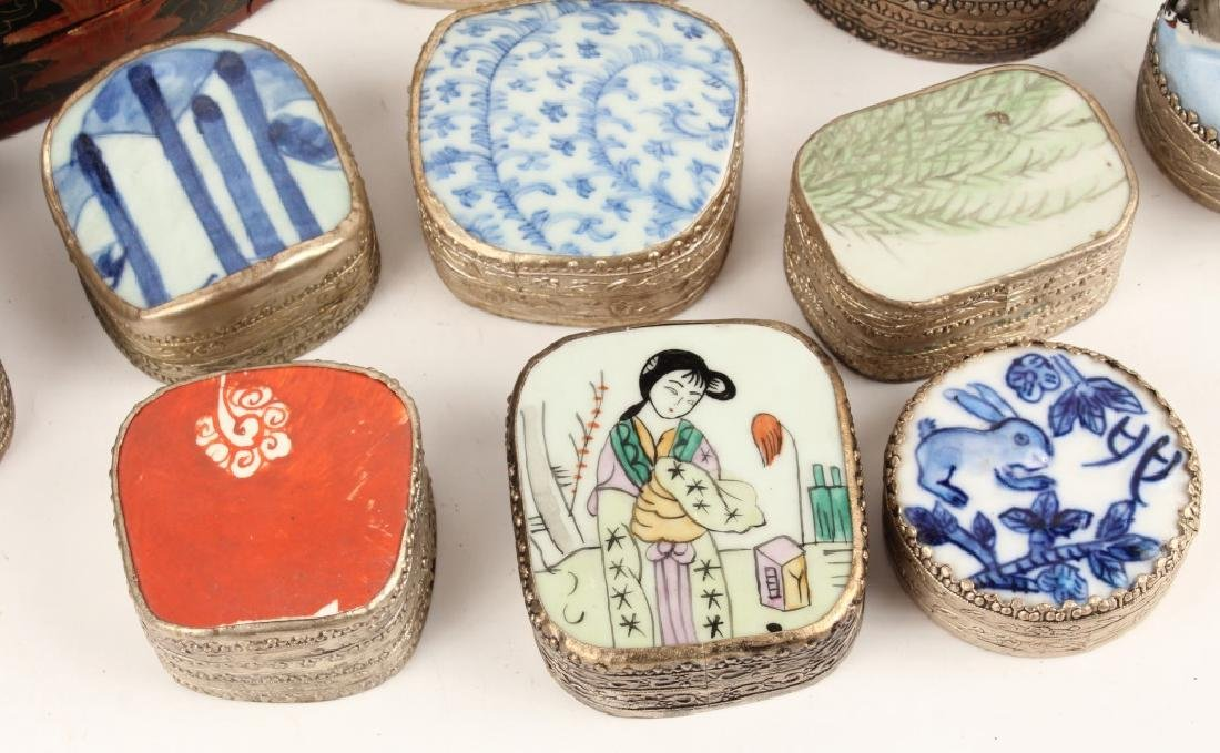 CHINESE PORCELAIN SHARD BOXES - 5