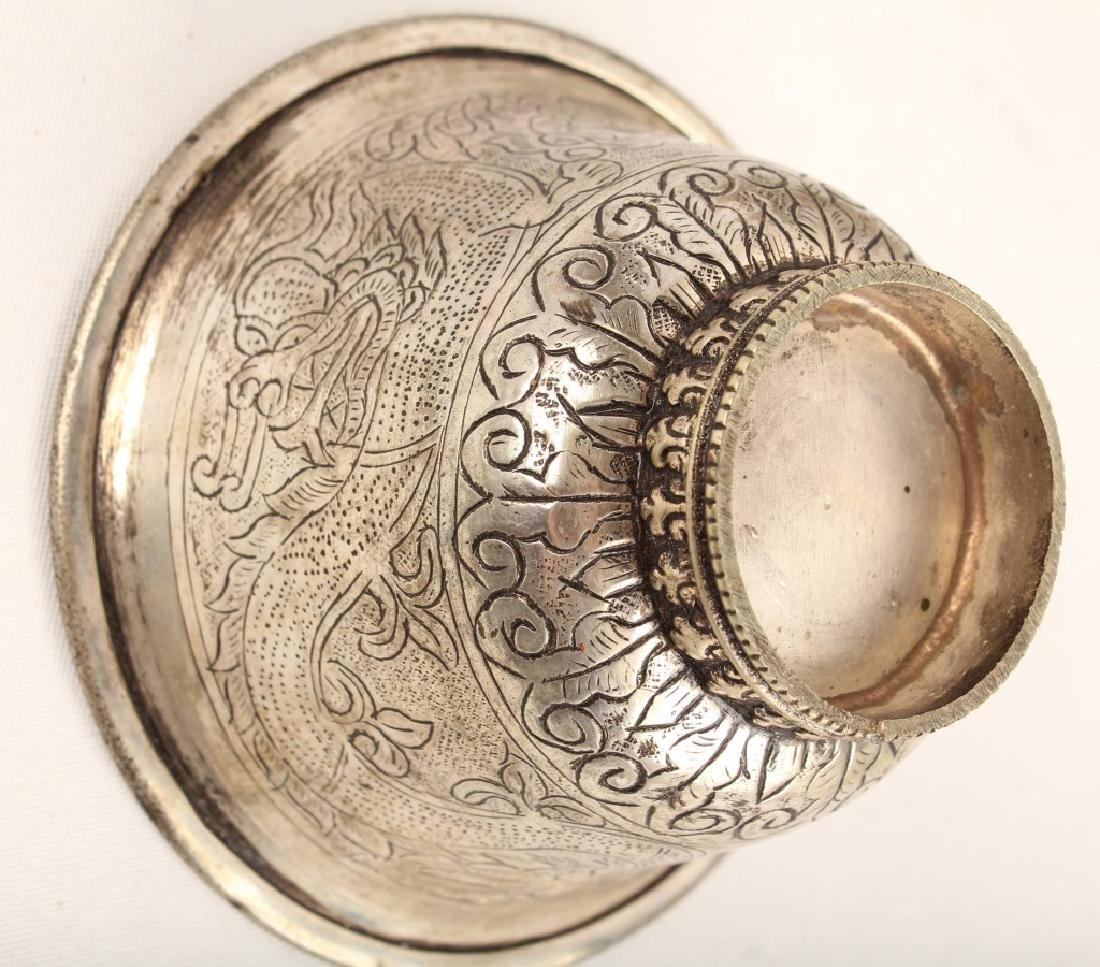 SIX SILVER PLATED CHALICES & CUPS - 2