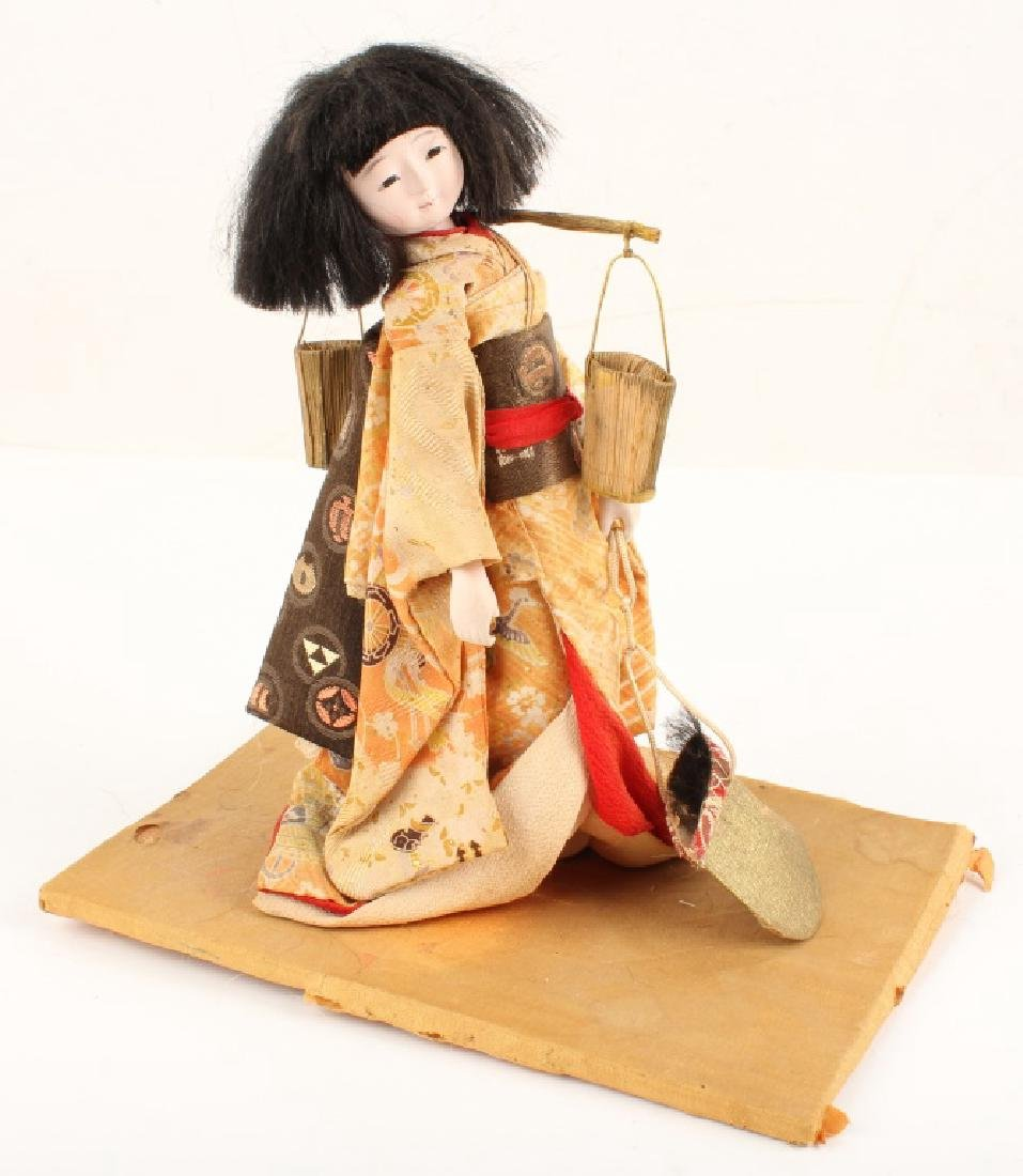 CONTEMPORARY JAPANESE DOLL COURTIER HAT DIP BUCKET