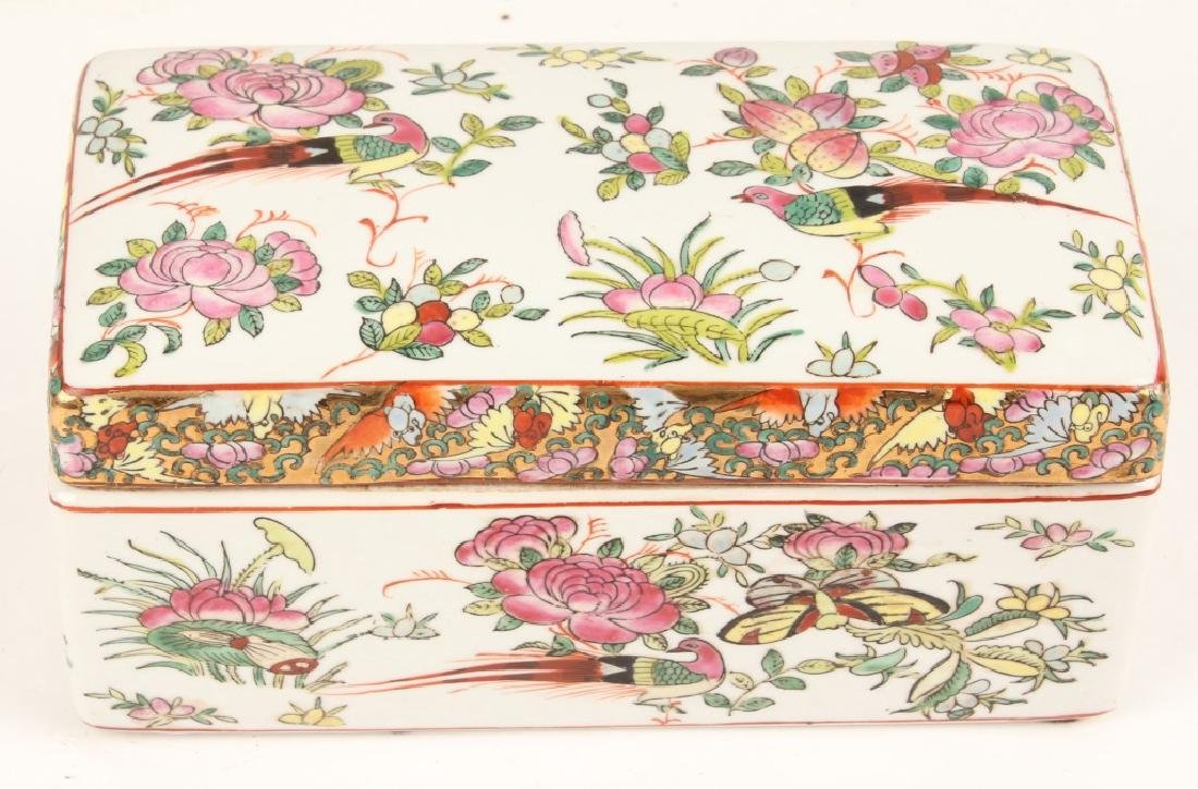 CHINESE PORCELAIN RECTANGULAR BOX