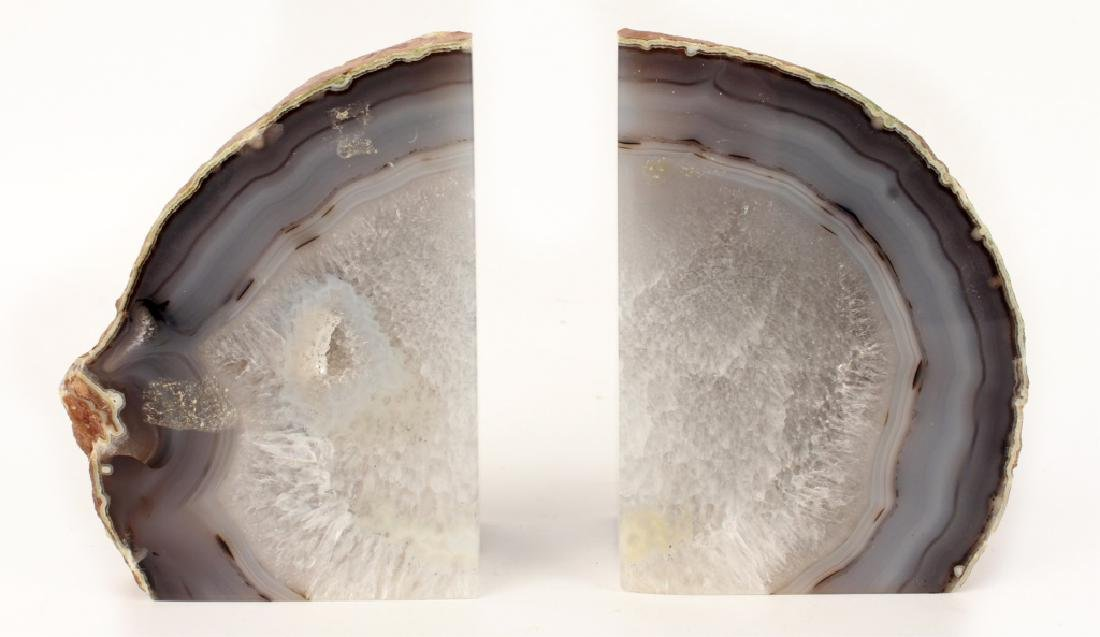 STONE GEODE BOOKENDS