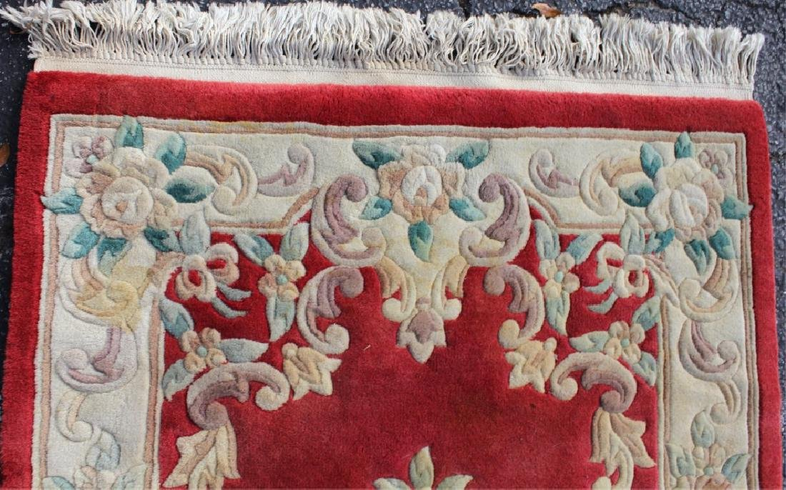 EUROPEAN FLORAL DESIGN RUG WITH EMBOSSED FEATURES - 2