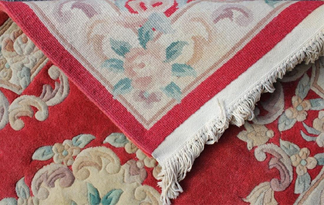 EUROPEAN FLORAL DESIGN RUG WITH EMBOSSED FEATURES - 4