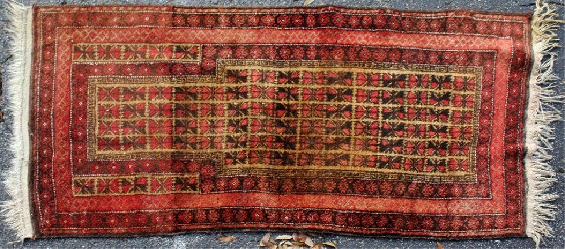 ASIAN RED WOVEN RUG