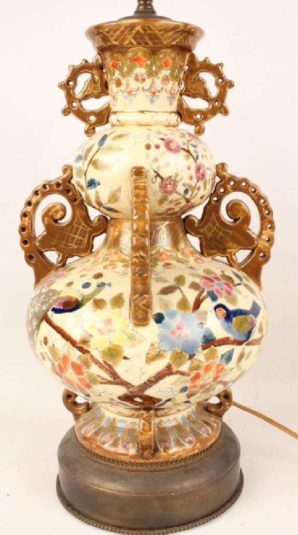 ORIENTAL PORCELAIN LAMP - 3