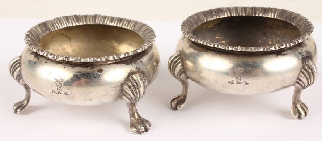 LOT OF TWO ENGLISH STERLING SILVER SALT CELLARS