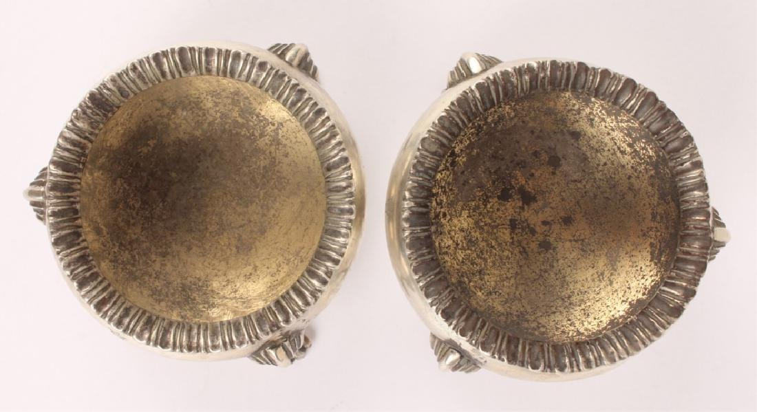LOT OF TWO ENGLISH STERLING SILVER SALT CELLARS - 3