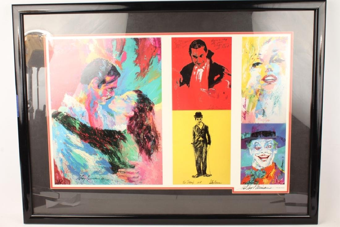 LEROY NEIMAN SIGNED POSTER OF JOKER CHAPLIN & MORE