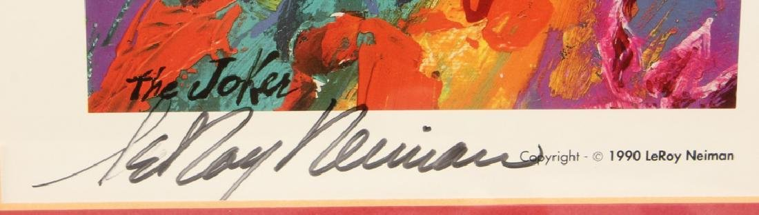 LEROY NEIMAN SIGNED POSTER OF JOKER CHAPLIN & MORE - 2