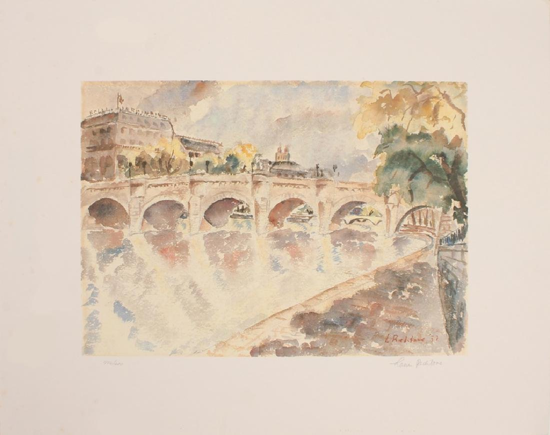 PARISIAN SEINE RIVER LIMITED PRINT LOUIS PEDITONE