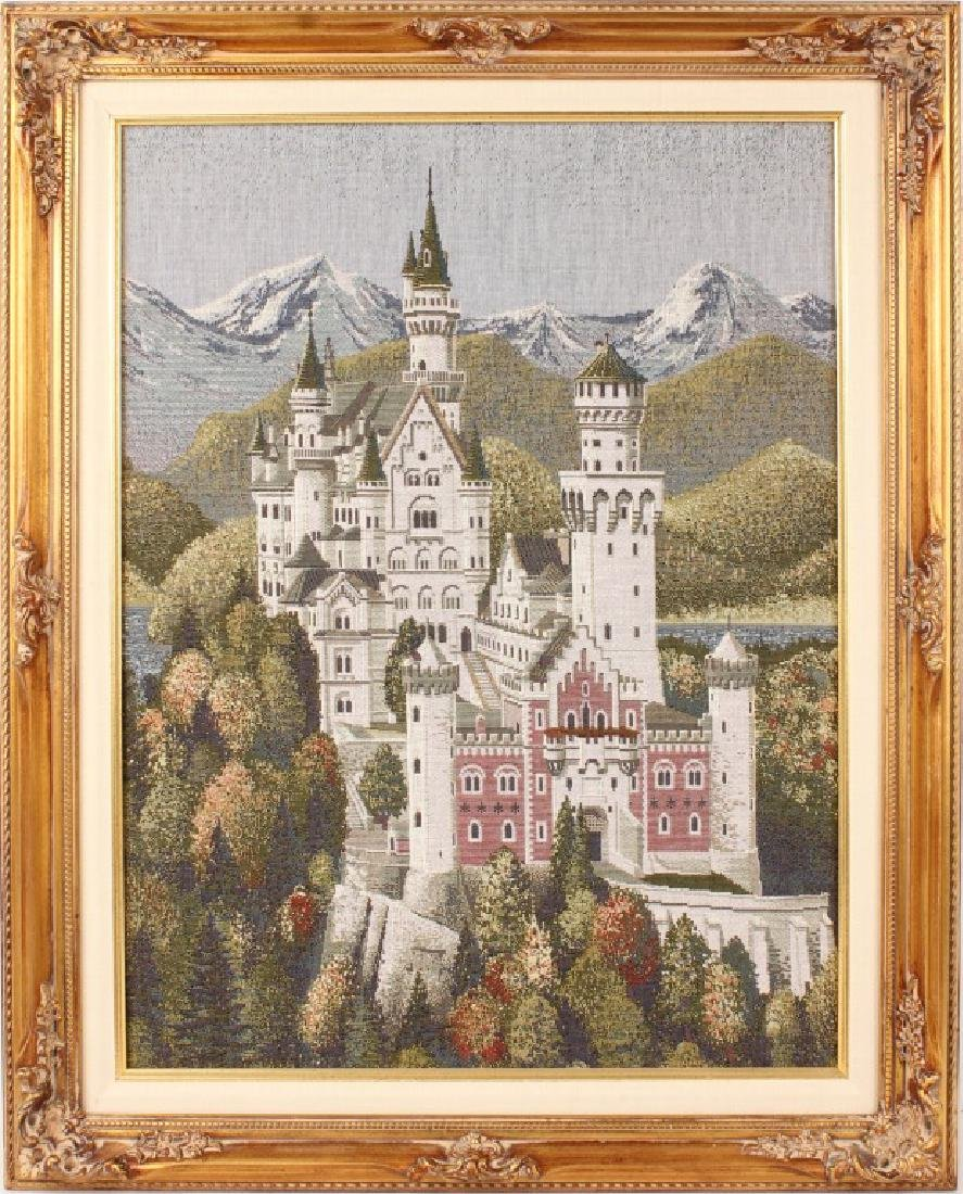 NEUSCHWANSTEIN CASTLE MACHINE MADE CROSS STITCH