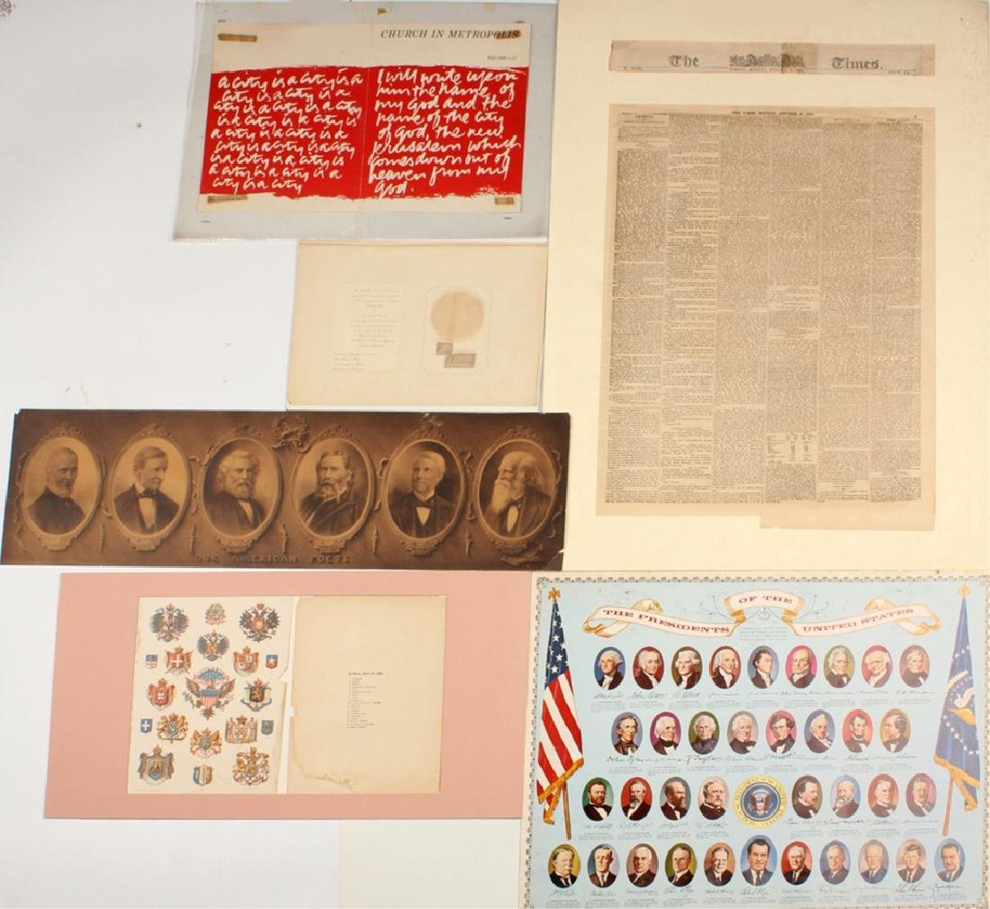 SIX ASSORTED HISTORICAL DOCUMENTS