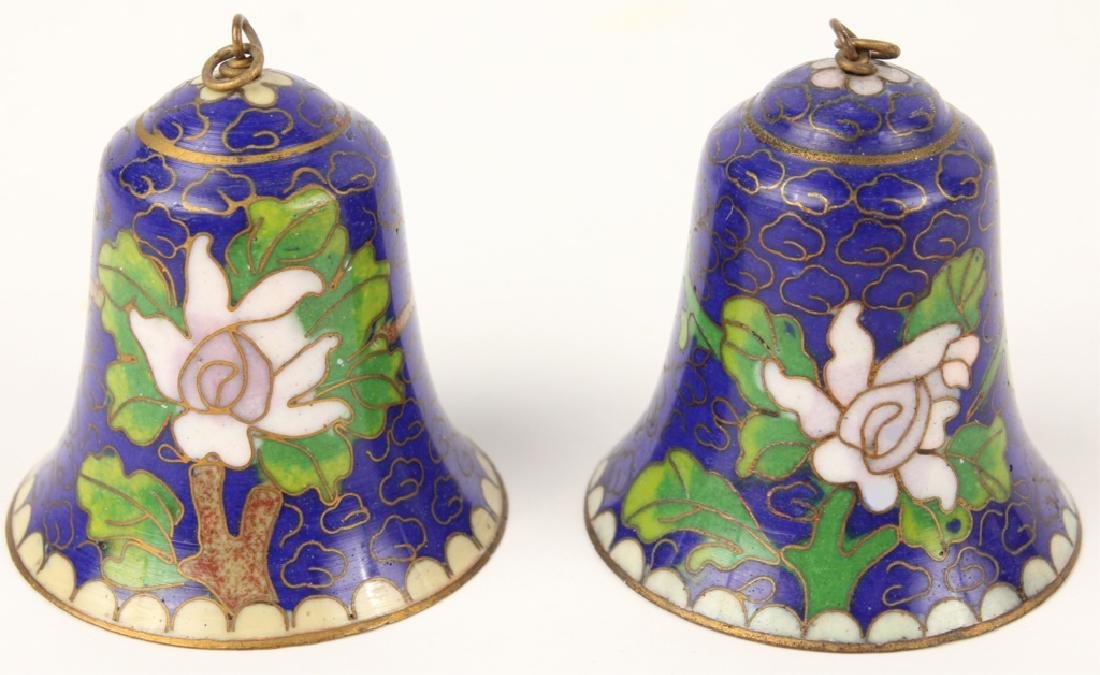 LOT OF 2 CLOISONNE BELLS