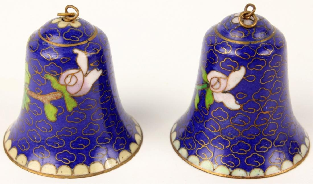 LOT OF 2 CLOISONNE BELLS - 2