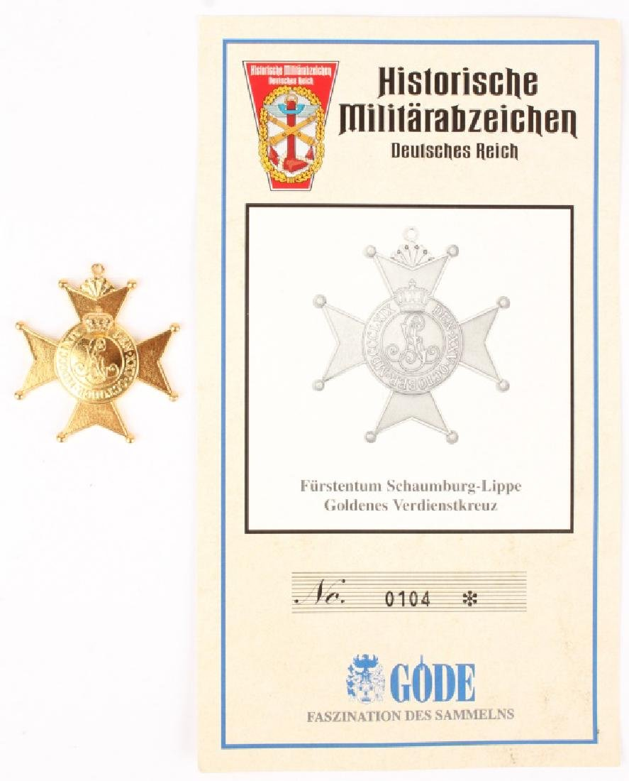 GERMAN LIPPE WAR MILITARY MERIT CROSS - 2