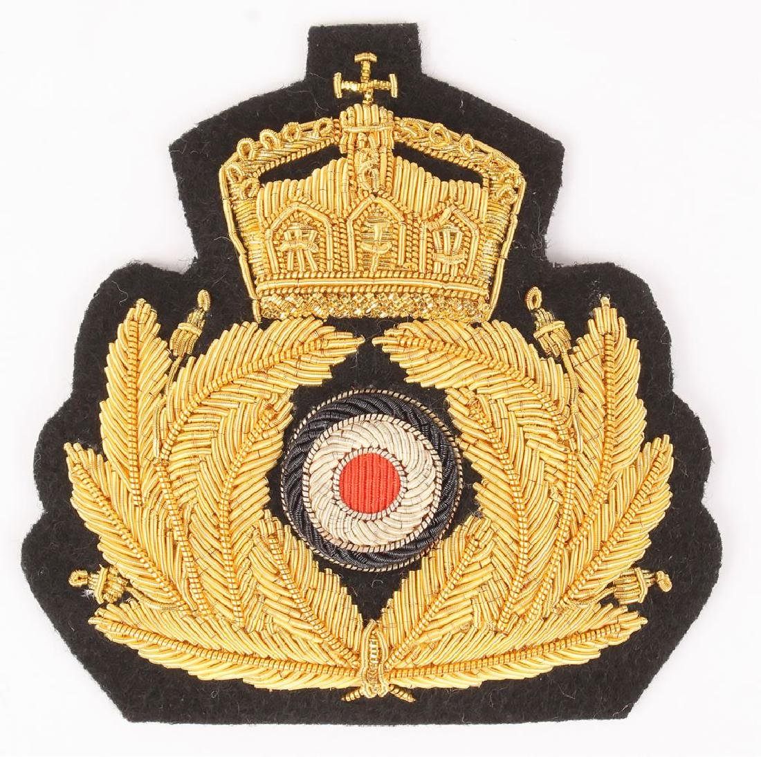 IMPERIAL GERMAN KREIGS MARINE OFFICER'S CAP BADGE