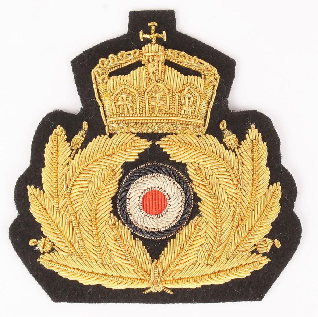 IMPERIAL GERMAN KREIGS MARINE OFFICER'S CAP BADGE