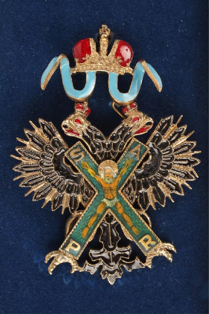 RUSSIAN BADGE OF THE ORDER OF ST ANDREW