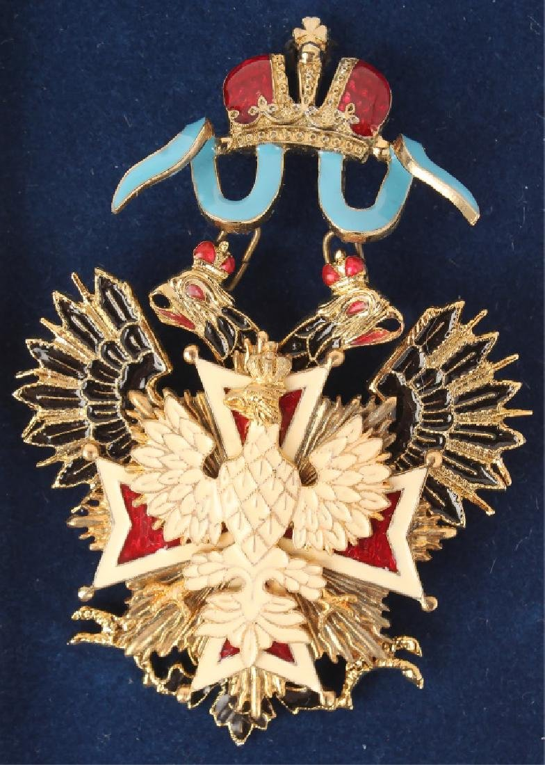 RUSSIAN BADGE OF THE ORDER OF WHITE EAGLE