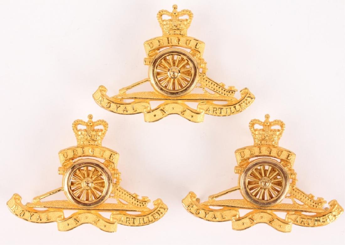 ROYAL ARTILLERY CAP BADGES - LOT OF 3