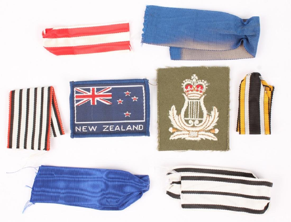 MIXED MILITARY RIBBONS AND PATCHES