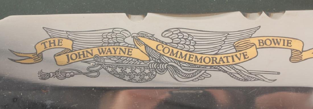 JOHN WAYNE COMMEMORATIVE BOWIE KNIFE FRANKLIN MINT - 5