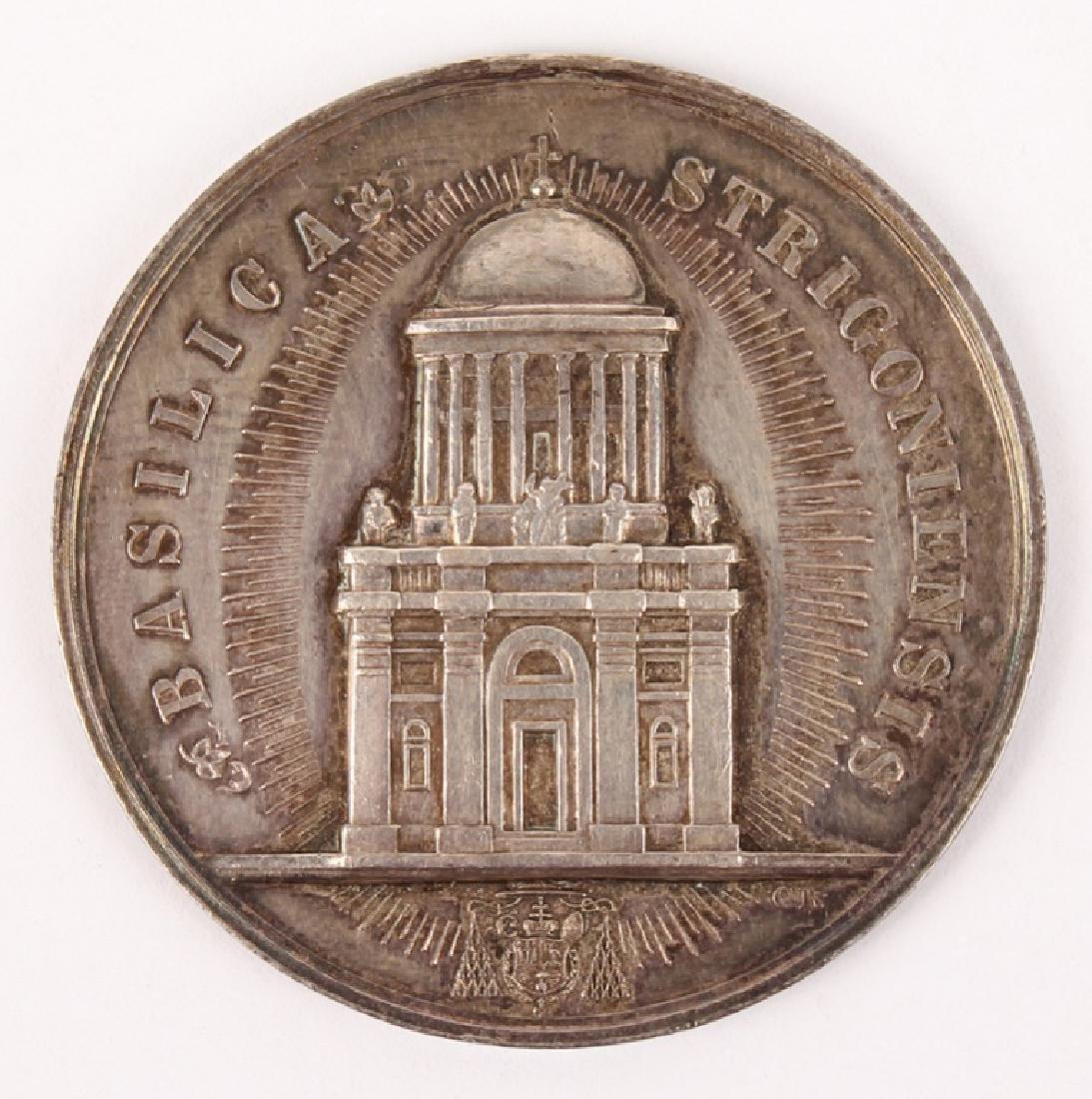 1856 BASILICA STRIGONIENSIS SILVER MEDAL