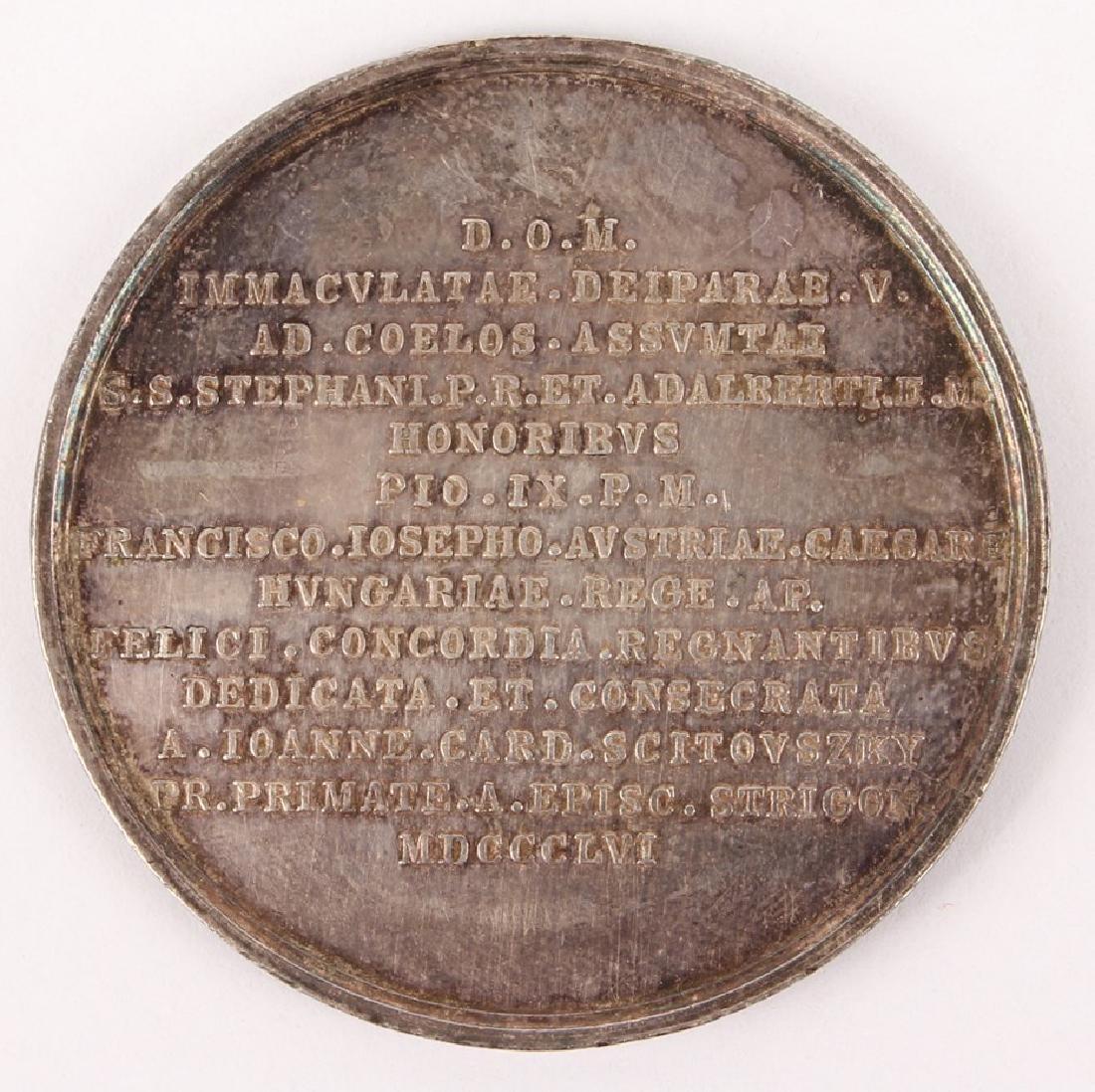 1856 BASILICA STRIGONIENSIS SILVER MEDAL - 2