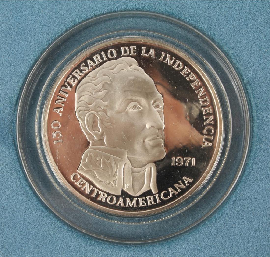 1971 SIMON BOLIVAR PANAMA 20 BALBOAS SILVER COIN - 2