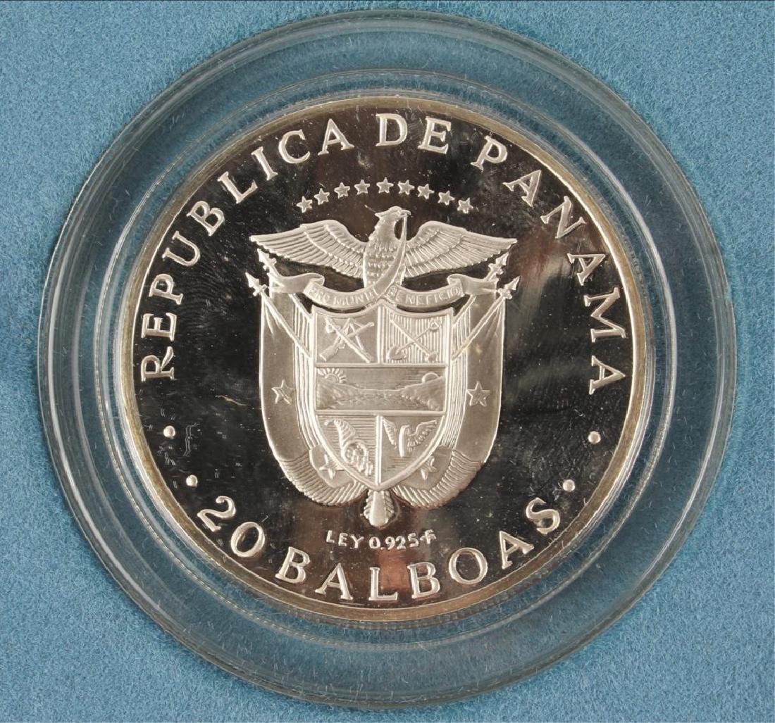 1971 SIMON BOLIVAR PANAMA 20 BALBOAS SILVER COIN - 4