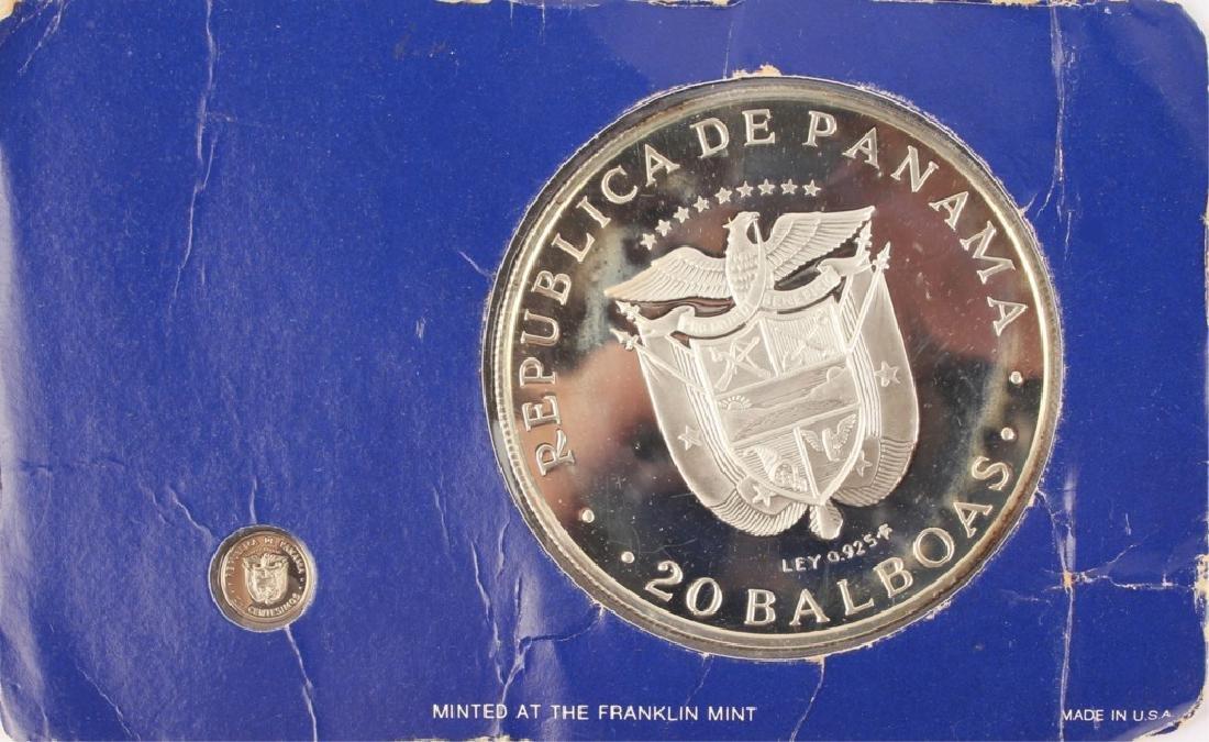 1976 SIMON BOLIVAR PANAMA 20 BALBOAS SILVER COIN - 4
