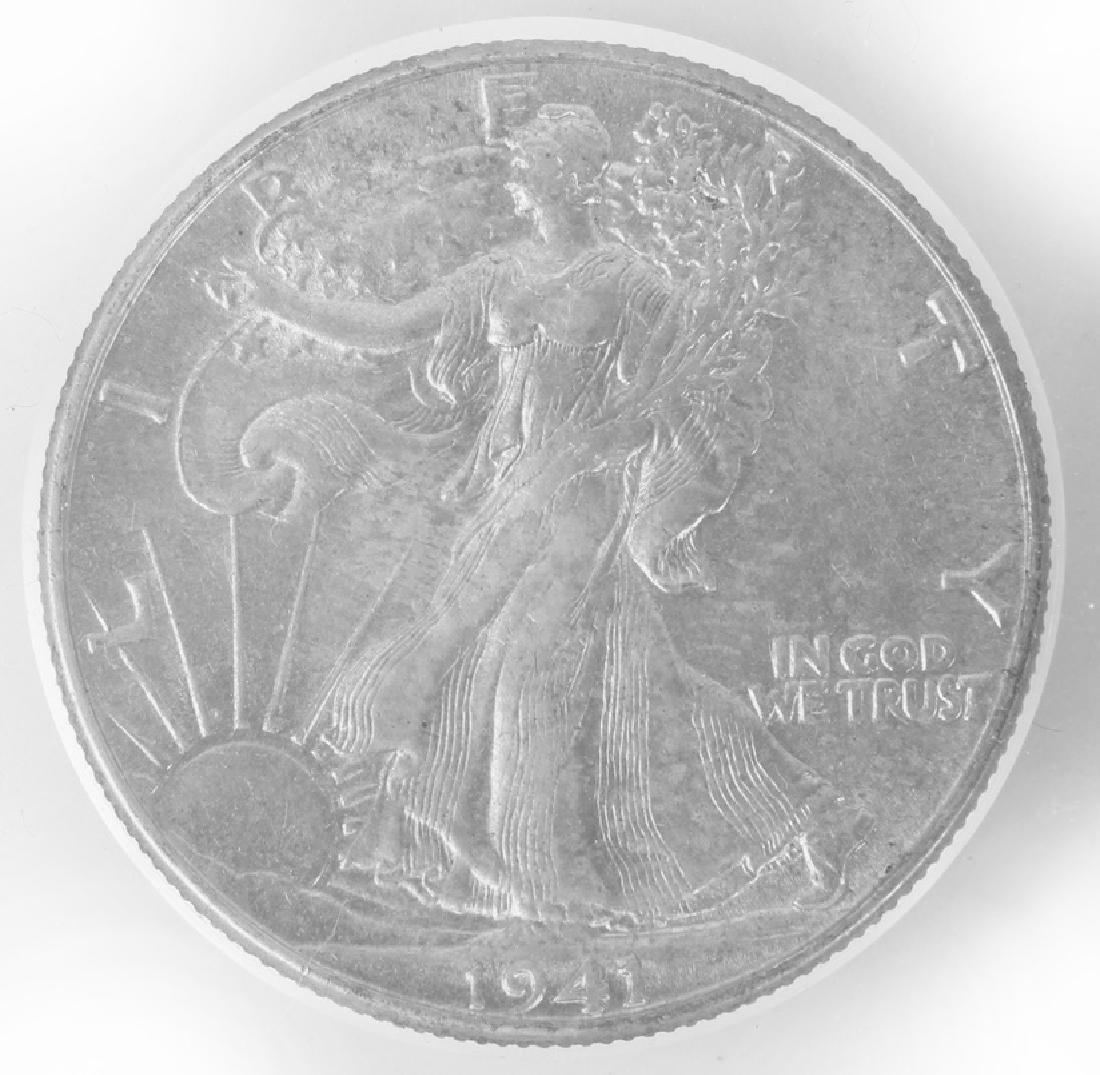 1941 WALKING LIBERTY SILVER HALF DOLLAR  ANACS - 2