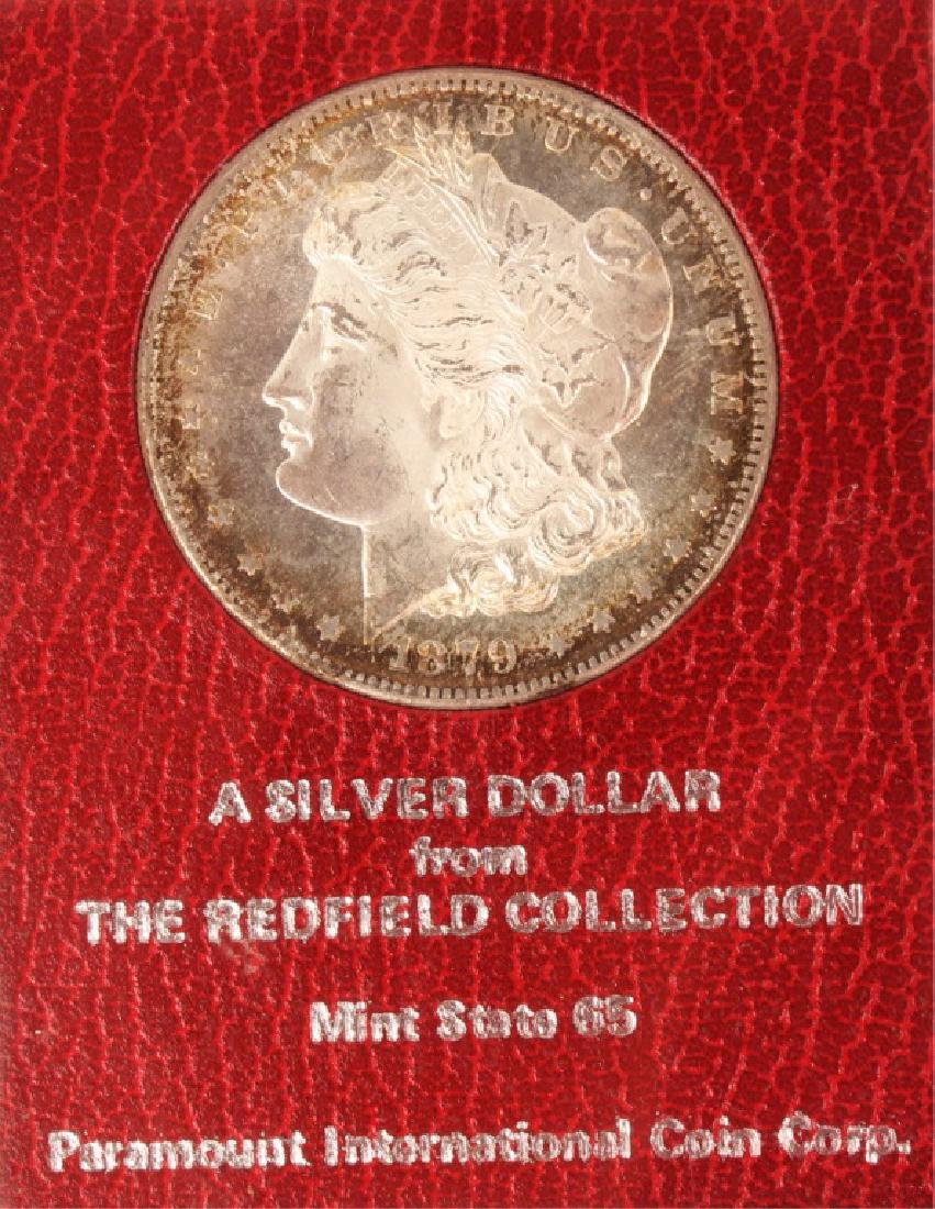 1879 S SILVER MORGAN ONE DOLLAR COIN REDFIELD