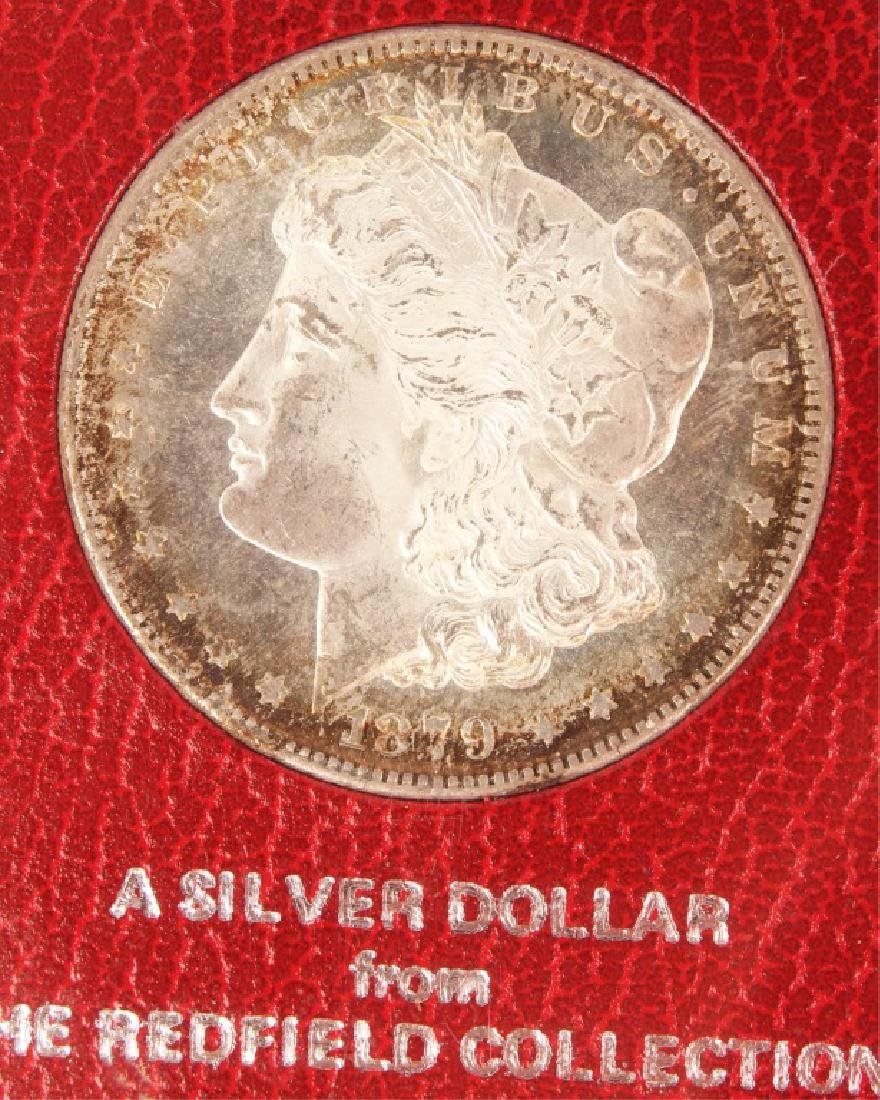 1879 S SILVER MORGAN ONE DOLLAR COIN REDFIELD - 2