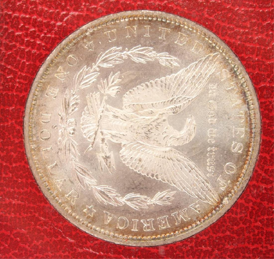 1879 S SILVER MORGAN ONE DOLLAR COIN REDFIELD - 4