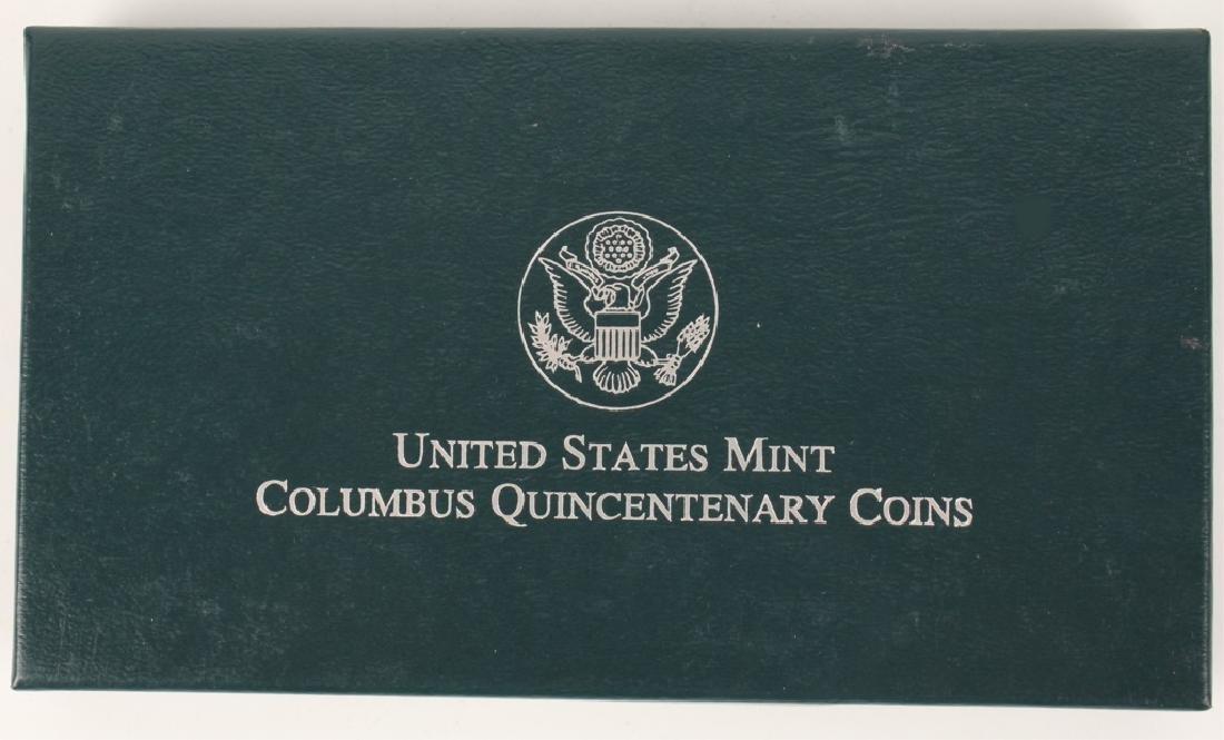 1992 UNITED STATES SILVER COMMEMORATIVE SET