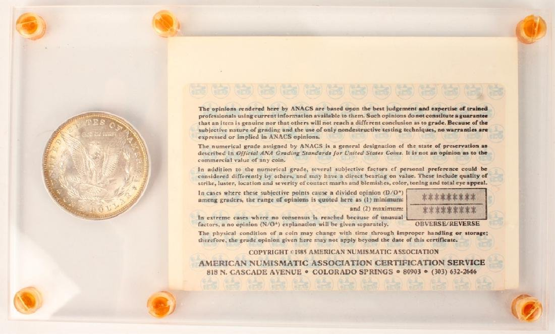 1880 PHILADELPHIA MORGAN SILVER DOLLAR  ANACS - 2