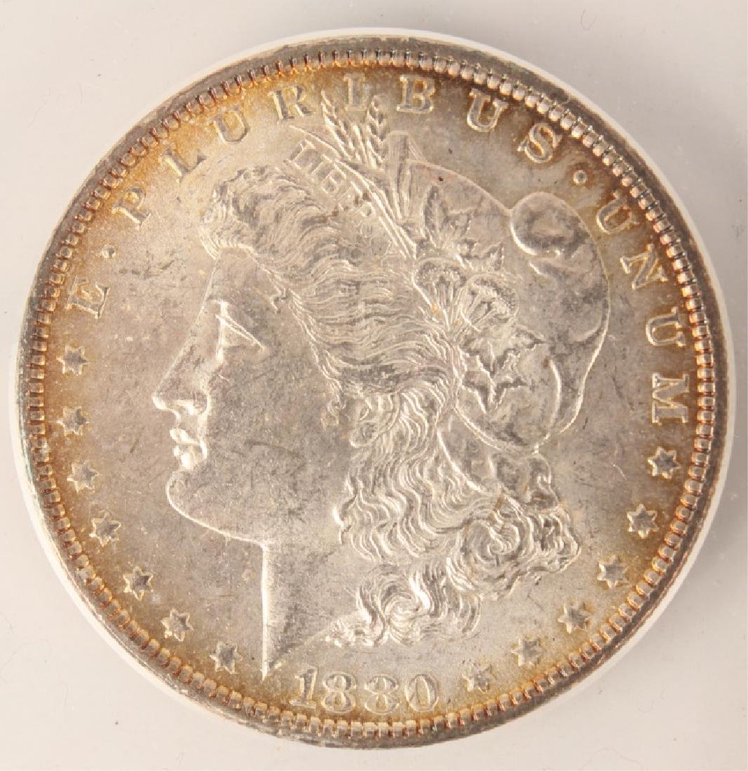 1880 PHILADELPHIA MORGAN SILVER DOLLAR  ANACS - 3