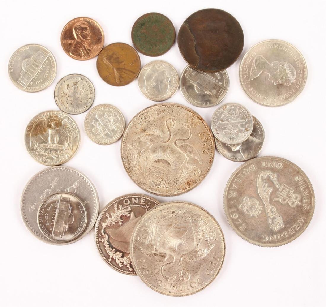 LOT OF SILVER AND COPPER WORLD COINAGE