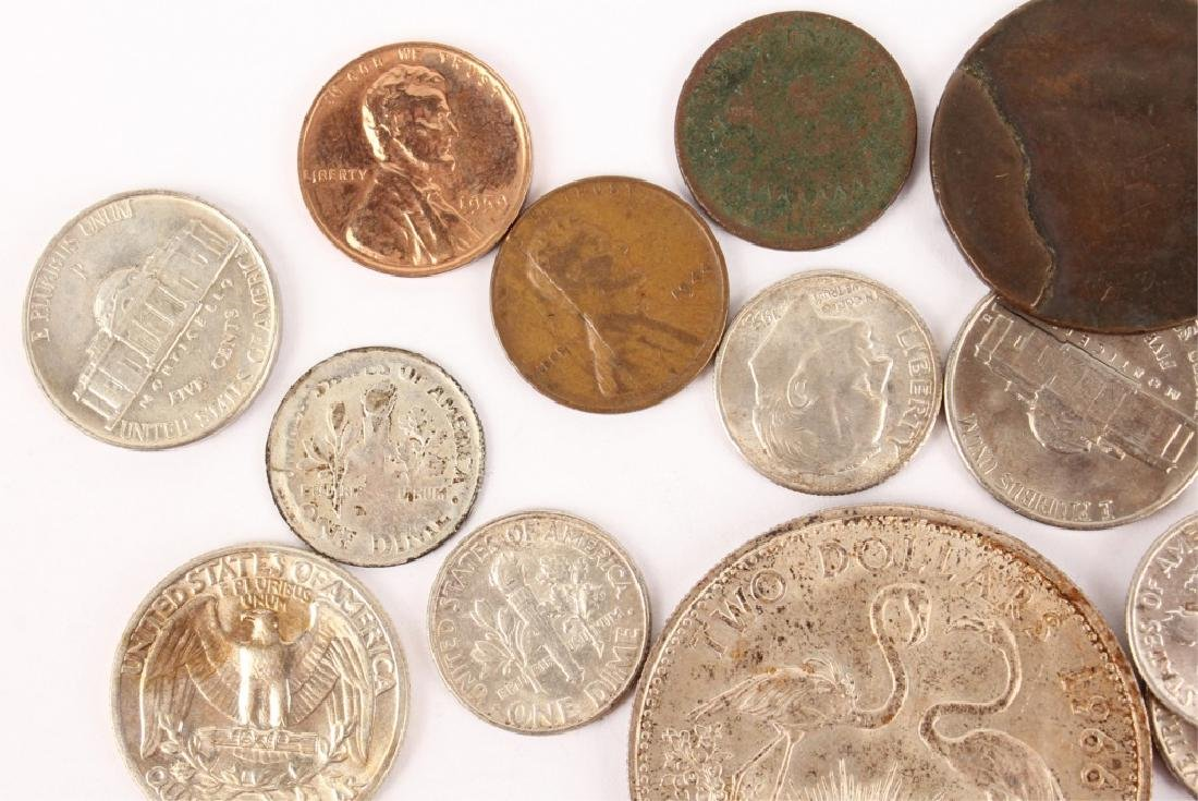 LOT OF SILVER AND COPPER WORLD COINAGE - 2