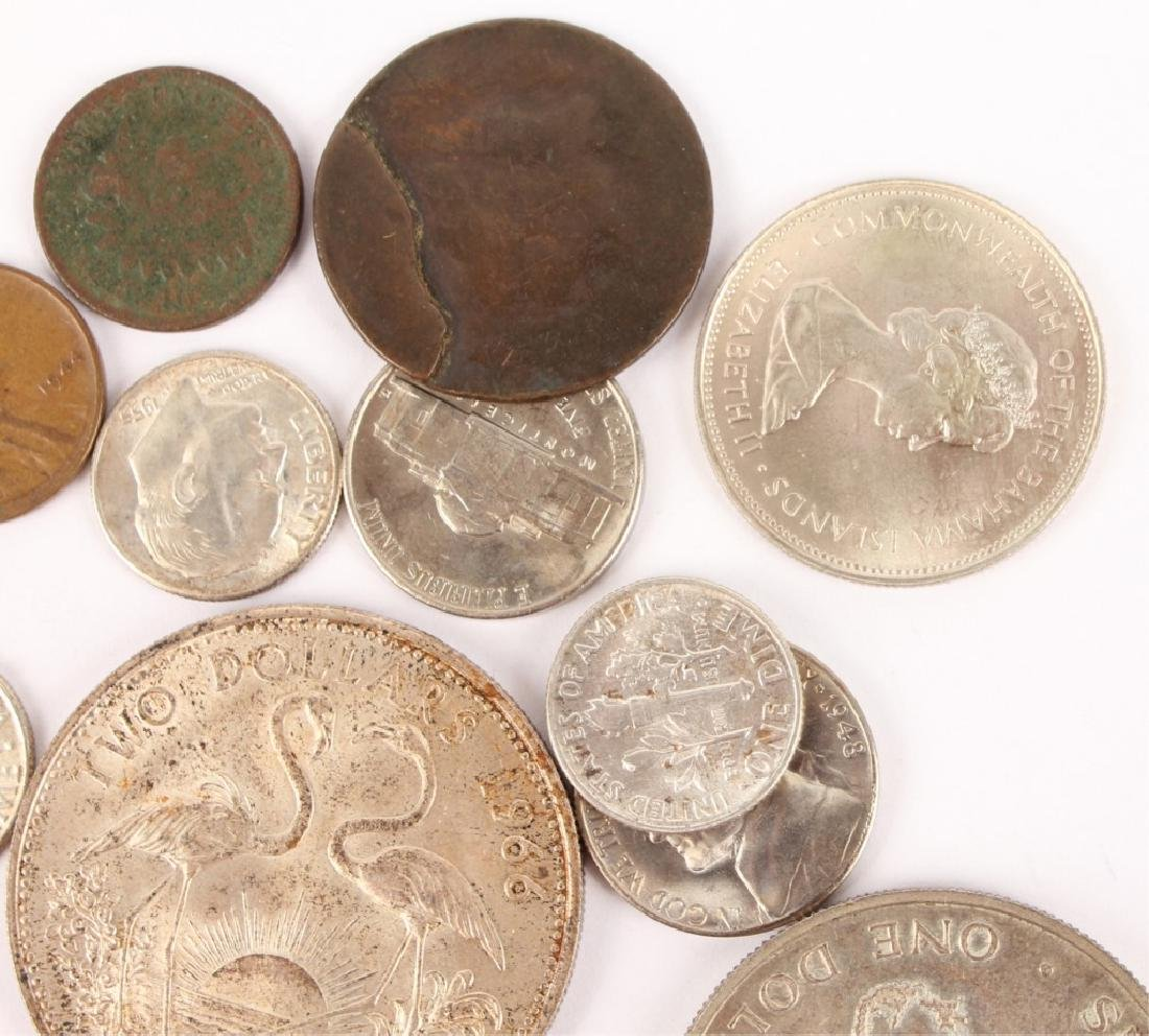 LOT OF SILVER AND COPPER WORLD COINAGE - 3