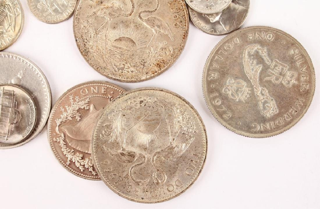 LOT OF SILVER AND COPPER WORLD COINAGE - 4