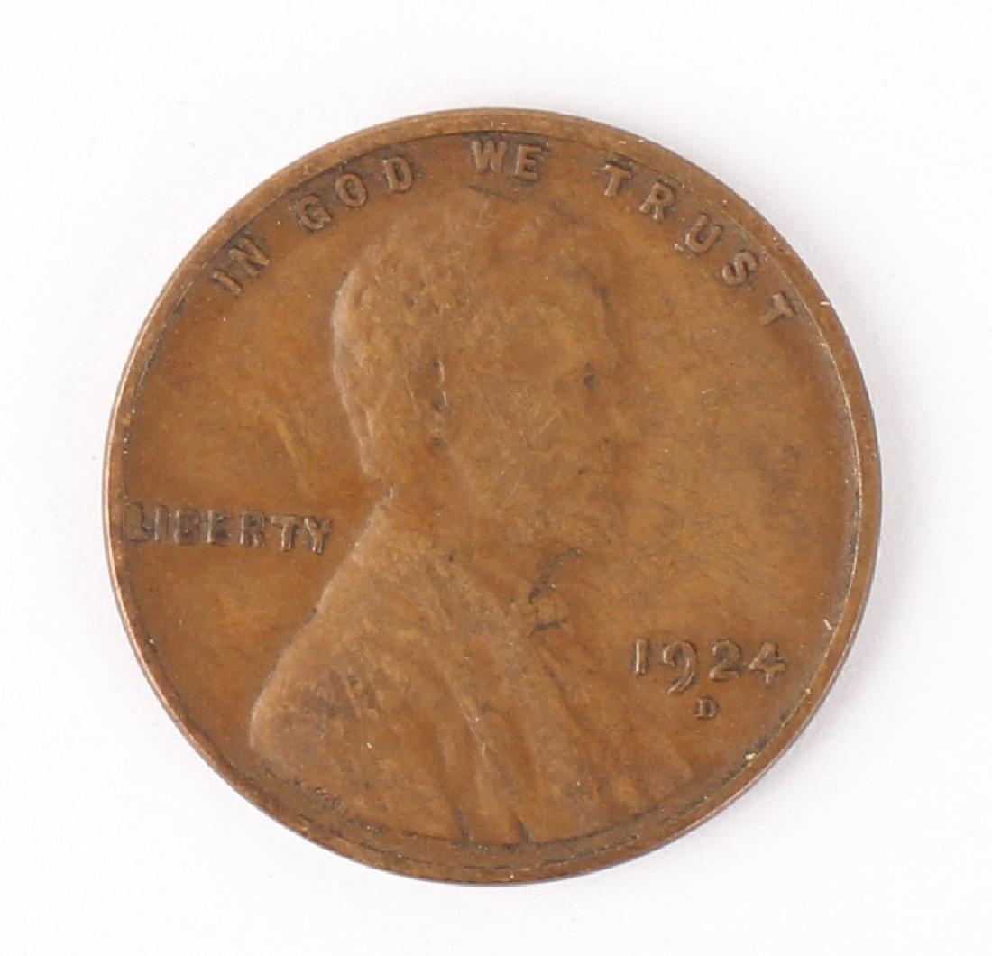 1924 D LINCOLN HEAD CENT SEMI-KEY DATE